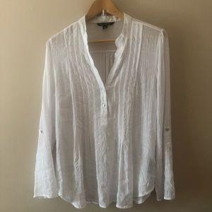 Zac & Rachel white gauzy blouse